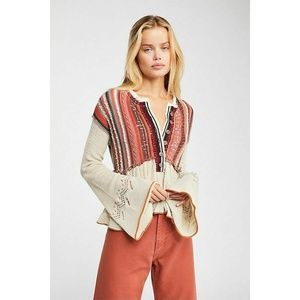 Free People Meadow Lakes Sweater, Natural, Size XS